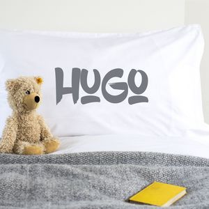 Grafitti Style Personalised Pillowcase - bedding & accessories