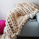 Oakford Super Chunky Knit Blanket