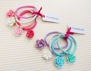Rosa Flower Ponies - hair accessories