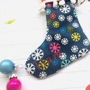 Handmade Personalised Mini Stocking Snowflakes