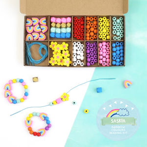 Personalised Rainbow Colours Bracelet Making Kit - traditional toys & games