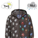 Children's Monster Colour Changing Packaway Raincoat