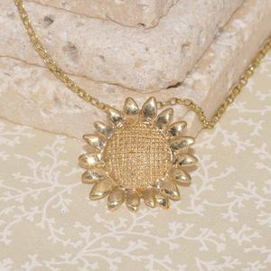Gold Sunflower Pendant - view all new