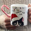 Personalised Christmas Cat Mug