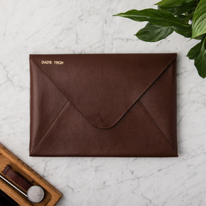 Personalised Men's Leather Laptop Case - new gifts for him