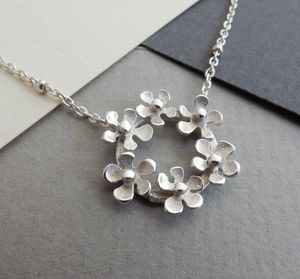 Bouquet Silver Necklace And Chain - necklaces
