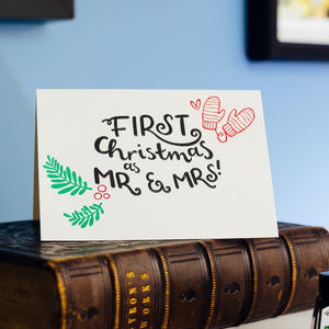 First Christmas As Mr And Mrs Christmas Card - winter sale