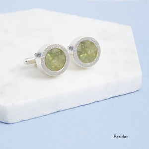 Birthstone Cufflinks - men's accessories