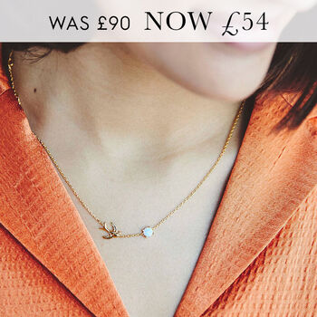 'Happy Place' Swallow Necklace