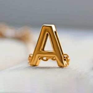A To Z Alphabet Gold Necklaces