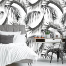Monochrome Palm Leaf Self Adhesive Wallpaper