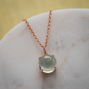 Green Amethyst And Yellow Gold Plated Necklace - necklaces & pendants