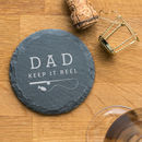 Personalised Funny Fishing Pun Slate Coaster