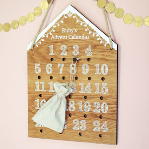 Personalised Advent Calendar Gingerbread House