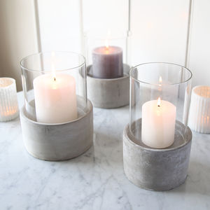 Concrete Candle Holder - room decorations