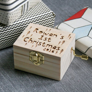 Personalised 1st Christmas Music Box