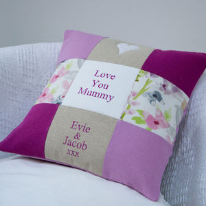 'Love You Mummy' Cushion - embroidered cushions