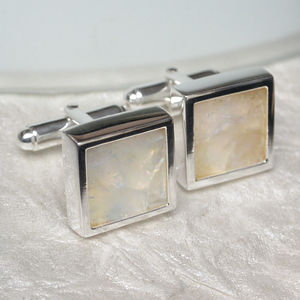 Moonstone Sterling Silver Cufflinks - men's accessories