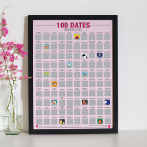 100 Dates Bucket List Scratch Off Poster