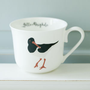 Oyster Catcher Personalised Breakfast Cup - kitchen
