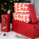 Personalised Recyclable Name Wrapping Paper