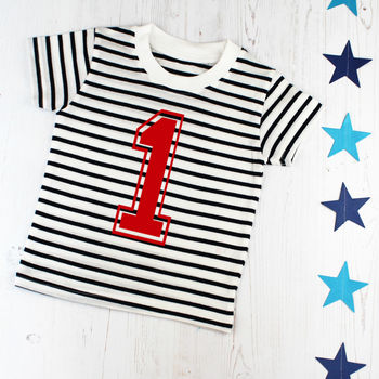 First Birthday Number One Breton T Shirt