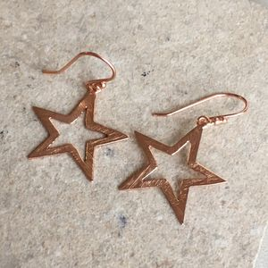 Cosmic Large Open Star Earring - earrings