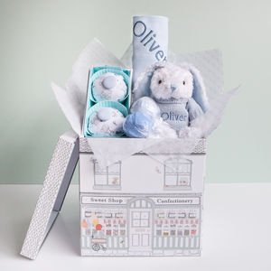Little Love Snuggle Hamper, Blue - baby care