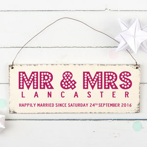 Personalised Couples Showtime Wedding Sign