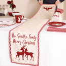 Personalised Cranberry Winter Woodland Table Runner