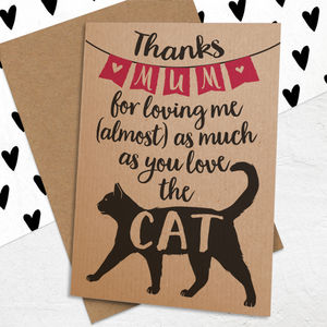 Mother's Day Card For Cat Loving Mums - mother's day cards