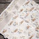 Chindi Rug With Fringe And Pom Poms In Cream