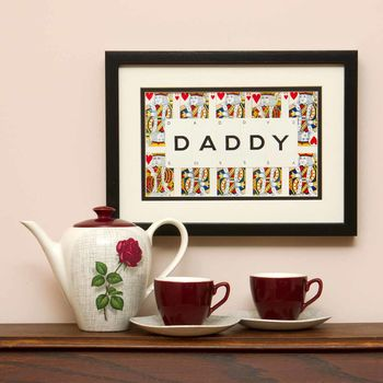 Daddy Playing Card Frame