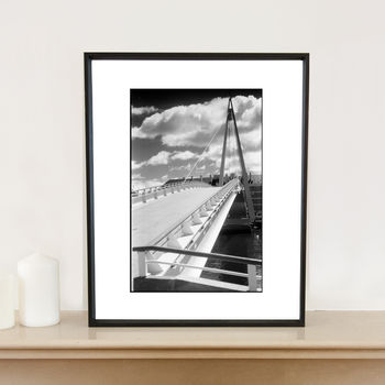Bridge, The Havre, France Art Print