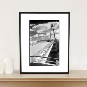 Bridge, The Havre, France Art Print - photography