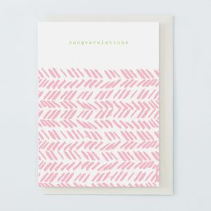 'Congratulations' Card Pink