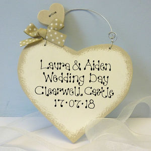 Personalised Wedding Day Heart - wedding favours