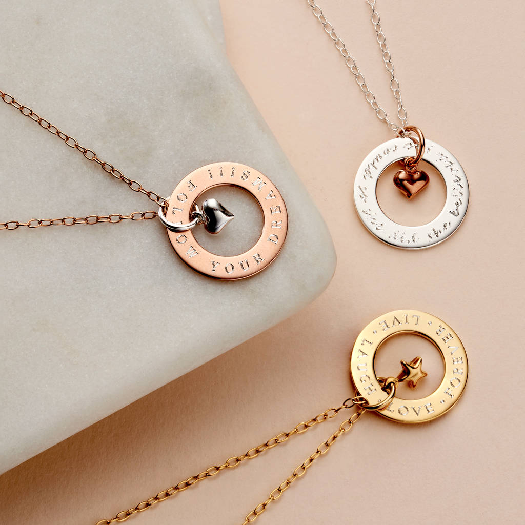 a95fba11746 personalised circle charm necklace by staxx | notonthehighstreet.com