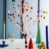 Pom Pom Christmas Tree - christmas decorations