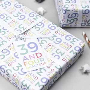40th Birthday Wrapping Paper Set - wrapping paper