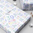 40th Birthday Wrapping Paper Set