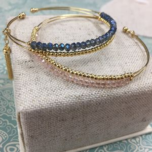Celia Bead And Tassel Bangle