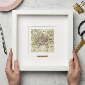 Personalised Square Vintage Map Picture