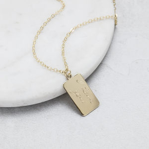 Personalised Gold Tiny Tag Pendant - necklaces & pendants