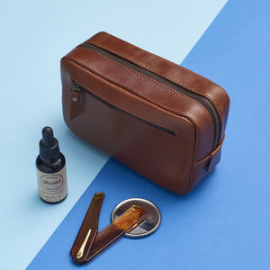 Beard Grooming Kit In Leather Bag