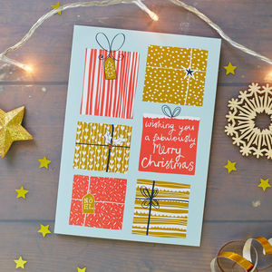 Presents Christmas Card Pack - winter sale