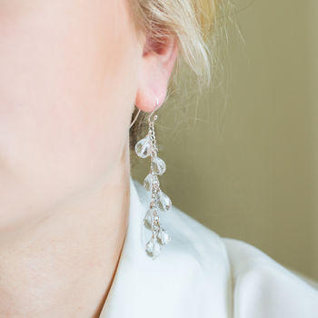 Faceted Krystallos Drop Earrings