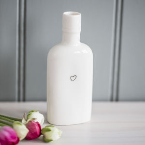 Heart Porcelain Bottle Vase - vases