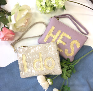 Bride And Bridesmaid Clutch Bag Set - be my bridesmaid?