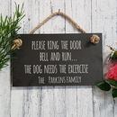 Personalised Engraved Slate Door Sign